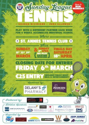 CHILDREN'S GROUPLINK SUNDAY LEAGUE TENNIS 2020